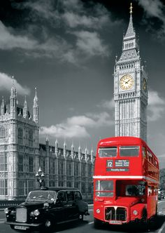 London Big Ben Bus and Taxi Giant Poster at AllPosters.com