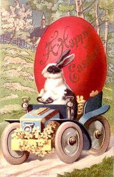 Art Vintage Roselie Rosa: Cartões de Páscoa Vintage