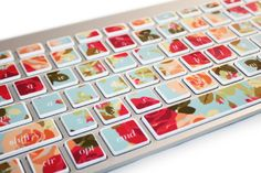Pretty rose pattern keyboard stickers! A perfect add-on gift for #mothersday! $14