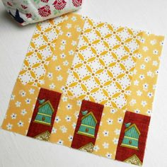 100 Modern Quilt Blocks - Block 35 'Dappled Sunlight'.  These Tula Pink blocks are simple but very effective.