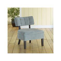 Cloud Blue Logan Armless Chair | World Market by worldmarket.com $180