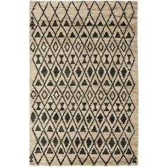 Safavieh Tangier Collection Hand-Knotted Wool and Jute Area Rug, by Ivory and Black Online Shopping, Textured Carpet, Contemporary Area Rugs, Black Rug, Black Wool, Hand Tufted Rugs, Jute Rug, Tangier, Blue Area Rugs