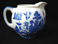 Blue Willow Creamer by Buffalo Pottery