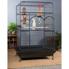 Prevue Pet Products Empire Macaw Cage 3157 is one of the largest cages on the market. The roomy square top design gives even the largest bird plenty of space to play and explore.