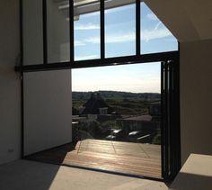 Sunflex glazen vouwdeuren