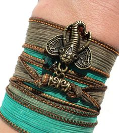 Bohemian Silk Wrap Bracelet Ganesha Yoga Jewelry Unique Sacred Elephant Gift For Her or Him Christmas Stocking Stuffer Under 30 Item K23 by BohemianEarthDesigns on Etsy https://www.etsy.com/listing/165761935/bohemian-silk-wrap-bracelet-ganesha-yoga