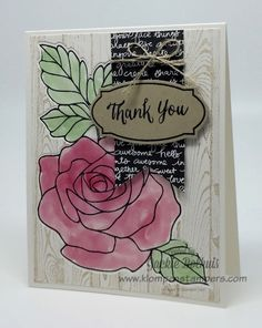 Klompen Stampers (Stampin' Up! Demonstrator Jackie Bolhuis): Rose Wonder Card Series--Card #7