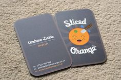 This is a great use of design on a pretty standard die cut business card.