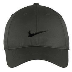 Nike Authentic Dri-FIT Low Profile Swoosh Front Adjustable Cap - Dark Grey  Color Black b023099167bf