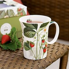 Wild Strawberries Mug £11.99  Charming mug depicting 'Wild Strawberry' by botanical artist Leonardo Pierre Antoine Poiteau (1766-1854), first published in 'Pomologie Francaise' in 1846, now in the library at the Royal Botanic Gardens, Kew .