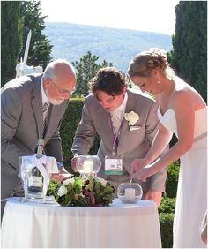 Lighting the unity candles, read more http://www.frenchweddingstyle.com/weddings-words-and-wishes-france/
