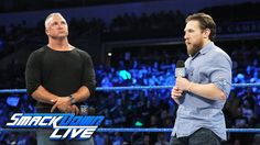 After attacking Kevin Owens earlier in the night, Shane McMahon is informed by SmackDown General Manager Daniel Bryan that he has been suspended indefinitely. Shane Mcmahon, Kevin Owens, Architecture Quotes, Daniel Bryan, Women's Wrestling, Total Divas, Wwe Wrestlers, Wakeboarding, Wwe Divas