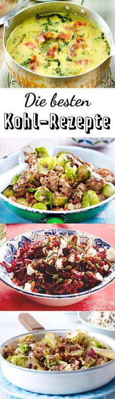 Fernab von Kohlroulade & Co.: Probiere unsere Kohl-Rezepte, denn vom knackigen Grünkohlsalat bis zur wärmenden Wirsingsuppe ist alles dabei!