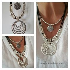 unique handmade leather Jewelry Designs by myDemimore on Etsy Beaded Statement Necklace, Coin Necklace, Leather Necklace, Pendant Necklace, Handmade Leather Jewelry, Leather Gifts, Choker, Unusual Jewelry, Hippie Style