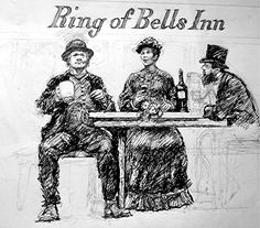 Ring O' Bells customers, Higher Brixham by artist Peter Archer. Archer, Saints, Mary, Ring, Artist, Sterling Archer, Rings, Artists, Jewelry Rings