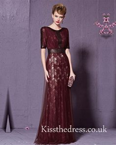 Wine Red Lace Sequin