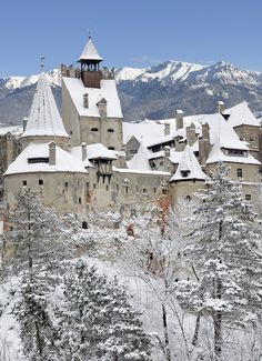 Bran Castle and Bran city, Transylvania Beautiful World, Beautiful Places, Beautiful Pictures, Romanian Castles, Transylvania Romania, Castle Pictures, Windsor Castle, Snow Scenes, Fortification