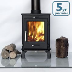 DEFRA Ottawa + Clean Burn Contemporary Woodburning Stove Stoves Multi Fuel in Home, Furniture & DIY, Fireplaces & Accessories, Heating Stoves Contemporary Wood Burning Stoves, Stove Accessories, Seasoned Wood, Multi Fuel Stove, Heat Resistant Glass, Oven Glove, Wood Burner, Brick And Stone, Trendy Tree