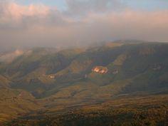 Cathedral Peak Drakensburg Mtns dawn
