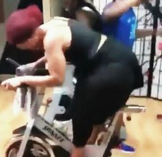 Big  sexton female on a tricycle