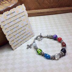 Psalm 23 Bracelet Inspirational Bracelet Cross by JewelryCharmers
