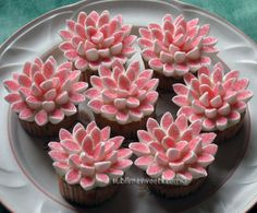 cupcakes with marshmallow flowers   thought they were adorable and found a tutorial here