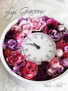 ★サロンの花時計☆|札幌ポーセラーツ・フラワー・クレイLys Gracieux〜リスグラシュ〜