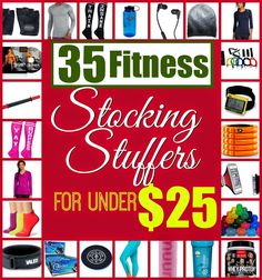 35 great healthy / fitness stocking stuffer ideas under $25! #healthy #christmas on Tone-and-Tighten.com