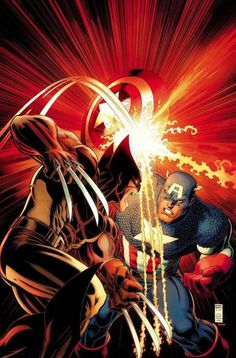 Arthur Adams - Wolverine vs Captain America