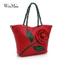 Sea Beach Beautiful Large Flower Women Bag Fashion Casual Women Leather Bag Female Handbag Floral Embroidery Bags big tote…