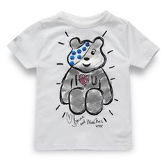 This white 'Pudsey' t-shirt is specially designed from our exclusive designer Donna and Markus for BBC Children In Need. All profits from this range will be donated to the charity. Children In Need, Charity Children, Cool Baby Stuff, Kid Stuff, School Fundraisers, Markus Lupfer, Love You, My Love, Debenhams