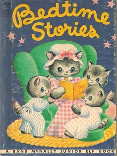 VINTAGE KIDS BOOK Bedtime Stories  A Rand McNally by HazelCatkins, $5.00