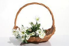 FLORA kosz kwiatowy. #WiklinowyDom Art N Craft, Wicker Baskets, Flora, Crafts, Home Decor, Adrenal Cortex, Wicker, Baskets, Tejidos