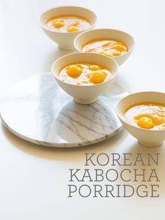 Korean style Kabocha pureed soup.