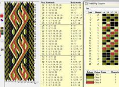 20 tarjetas, 4 colores, repite cada 12 movimientos // sed_231 diseñado con GTT༺❁