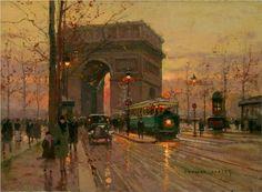 Triumphal Arch - Edouard Cortes  Post Impressionism
