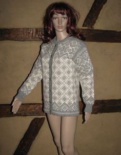 Norwegian wool CARDIGAN Sweater Figgjo Styled made in Norway buttons VINTAGE