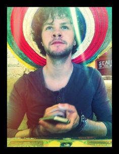 Look jaybird with his phone! A rare thing to see!