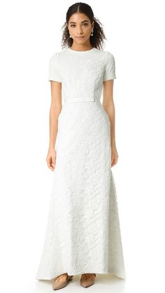 Self Portrait White Roses Gown #modest