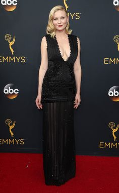 Kirsten Dunst  2016 Emmys... beautiful, love the details. Just change the color and add bridal embellishments.