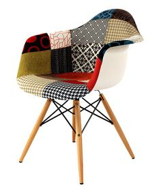 1960's style - Take a look at this Patchwork Mid-Century Armchair by Control Brand on #zulily today!
