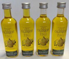 Franse Olijfolie van Moulin du Calanquet. wwwbommelsconserven.nl  Moulin du Calanquet heeft een olijfgaard van meer dan 10.000 bomen, geplant in 1999. Het is samengesteld uit traditionele regionale variëteiten:  Aglandau, Salonenque, Grossane, Verdale en Picholine. De olijfoliën worden als single ras geproduceerd en als een blend, waardoor de vele smaken en aroma's van elk ras naar voren komt en gecombineerd kan worden met verschillende soorten gerechten