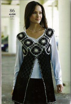 Tunica-Chaleco Escote Cuadrados Crochet Patron - Patrones Crochet
