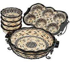 Temp-tations Old World or Floral Lace 8-pc. Ceramic Baking Set — QVC.com