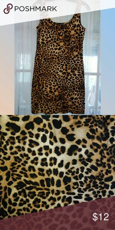 Cheetah print tank top dress New with tags H&M Dresses