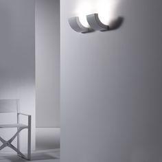 Lampada da parete a luce indiretta alogena in alluminio design PICCHIO by Martinelli Luce | design Emiliana Martinelli