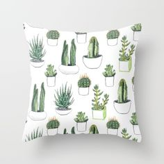 Buy watercolour cacti and succulent Throw Pillow by Vicky Webb. Worldwide shipping available at Society6.com. Just one of millions of high quality products available.