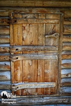 A close up of the incredible double dutch door and locking latch of the Dick Proenneke cabin. Twin Lakes, Alaska. Photography by Joseph Classen.
