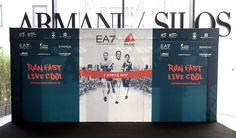 questa mattina all'Armani Silos  a Milano in occasione della presentazione alla stampa della Ea7 Emporio Armani - Milano Marathon 2017, 11 Ottobre 2016. ANSA / MATTEO BAZZI