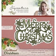 Signature Collection by Sara Davies - Traditional Christmas Metal Die - Festive Greeting